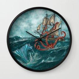 Kraken and the Mermaid Wall Clock