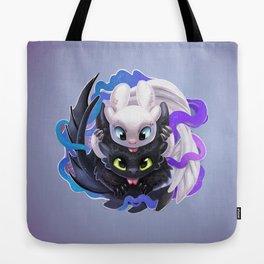 Dragon Black White Tote Bag