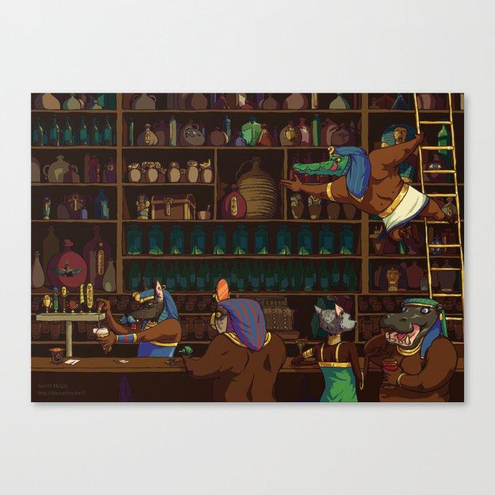 The Canopic Jar Canvas Print