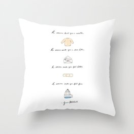 All I Want Throw Pillow