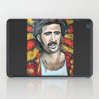 nicolas cage iPad Cases featuring Raising Arizona Nicolas Cage by Portraits on the Periphery