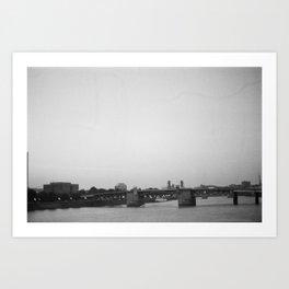 View from Portland bridge Art Print