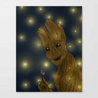 groot Canvas Prints featuring Groot by Camilla Kipp
