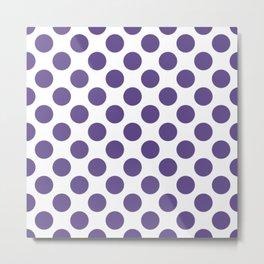 Ultra Violet Thalertupfen Pōlka Large Round Dots Pattern Metal Print