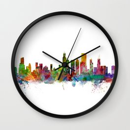 Chicago Illinois Skyline Wall Clock