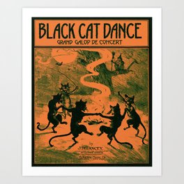 Black Cat Dance (1916) Art Print