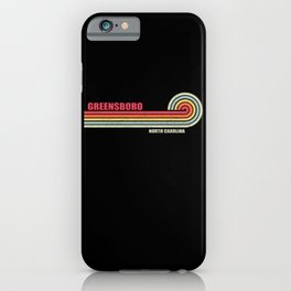Greensboro North Carolina City State iPhone Case