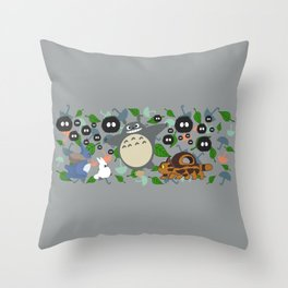 Troll in Motion Throw Pillow