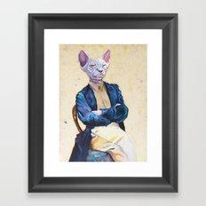 Gentleman Sphynx Framed Art Print