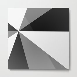 Retro Pop Art Beams - Black White Grey Metal Print