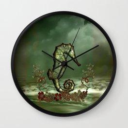 Wonderful seahorse Wall Clock
