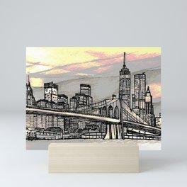 NYC_skyline Mini Art Print