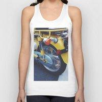 moto Tank Tops featuring Yellow Moto by ThingsLikeStuff