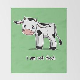 I Am Not Food Throw Blanket