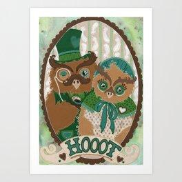 Mr. and Mrs. Owl Art Print