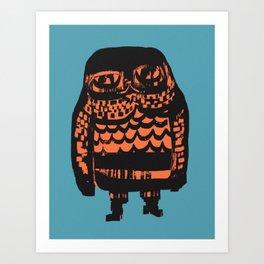 Little Seal (blue) Art Print