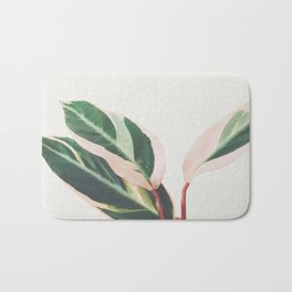 Pink Leaves III Bath Mat