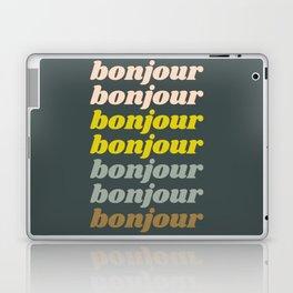 Bonjour in Pretty Pastels Laptop & iPad Skin