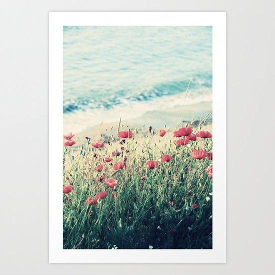 Sea of Poppies Art Print