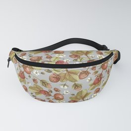 Strawberries Field (gray) Fanny Pack