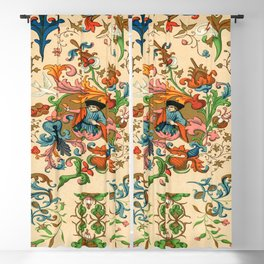 The Prince Of Flowers Pattern Decor Ornaments Blackout Curtain