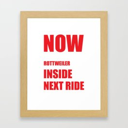 Now I Lay Me Down to Sleep Rottweiler Prayer T-Shirt Framed Art Print