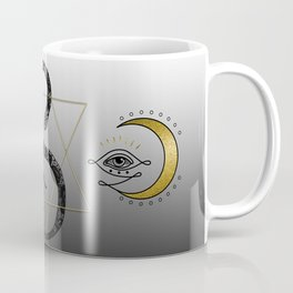 The Snake And The Magic Eye Gold And Black Coffee Mug