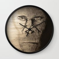ape Wall Clocks featuring Ape  by Shuchita
