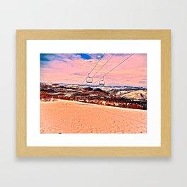 Chilly Sand Framed Art Print