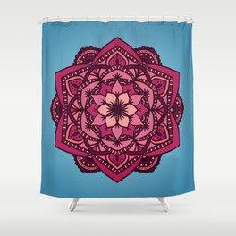 [Mandala] Cherry Blossom Blues Shower Curtain