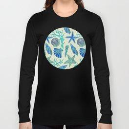 Blue Seashells Long Sleeve T-shirt
