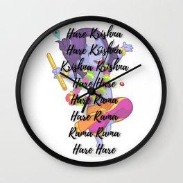 Hare Krishna Hare Rama Wall Clock