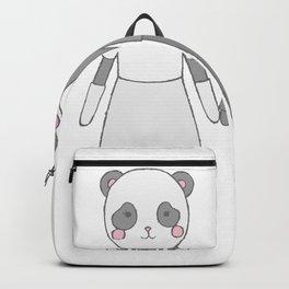 Wedding pandas, white background Backpack