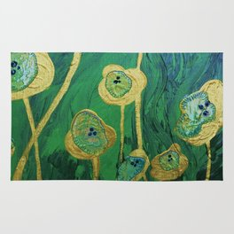 Lotus Blossoms in the Swamp Rug