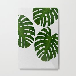 Monstera Leaf III Metal Print