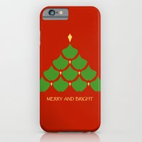 Merry and Bright Ginkgo Christmas Tree Slim Case iPhone 6s