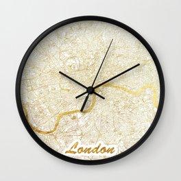 London Map Gold Wall Clock