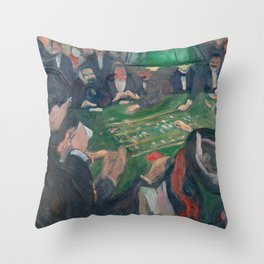 Edvard Munch - At the Roulette Table in Monte Carlo Throw Pillow
