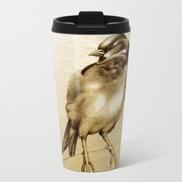 Sparrow With Feather Travel Mug