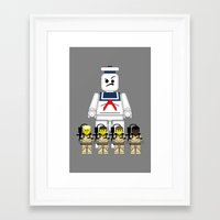 ghostbusters Framed Art Prints featuring Ghostbusters  by 1982 est. by A.W. Owens