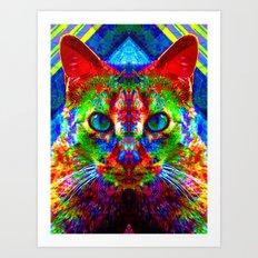 Sir Parker the Chromatic Cat Art Print