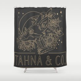 Tahna and Co. Logo Shower Curtain