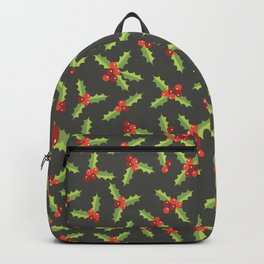 Christmas Holly Berries and Leaves  Backpack
