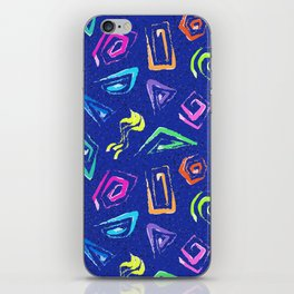 Surf Spiral Shapes in Neon Periwinkle iPhone Skin