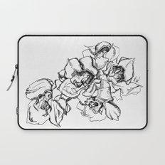 Flowers Line Drawing Laptop Sleeve