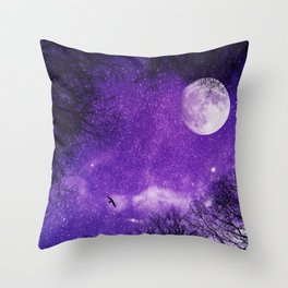 Nightscape in Ultra Violet Throw Pillow