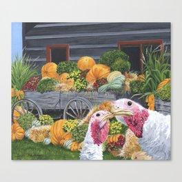 Fall Turkeys Canvas Print
