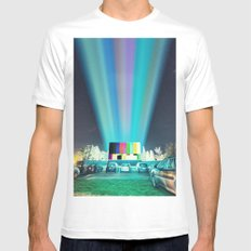 Drive In Test Pattern Mens Fitted Tee White MEDIUM