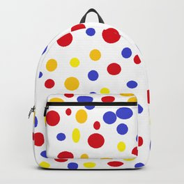 drops of colourful dots Backpack