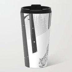 White tiger Metal Travel Mug